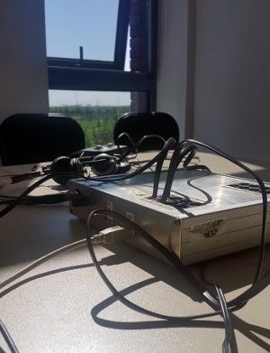 A photograph of our Perception Experiment equipment