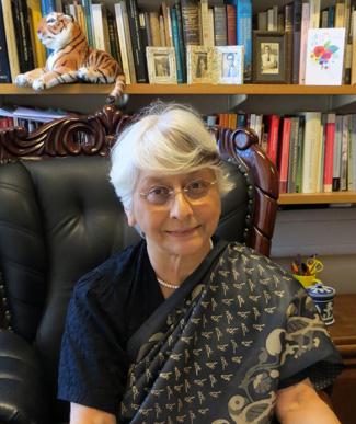 A photograph of Professor Aditi Lahiri